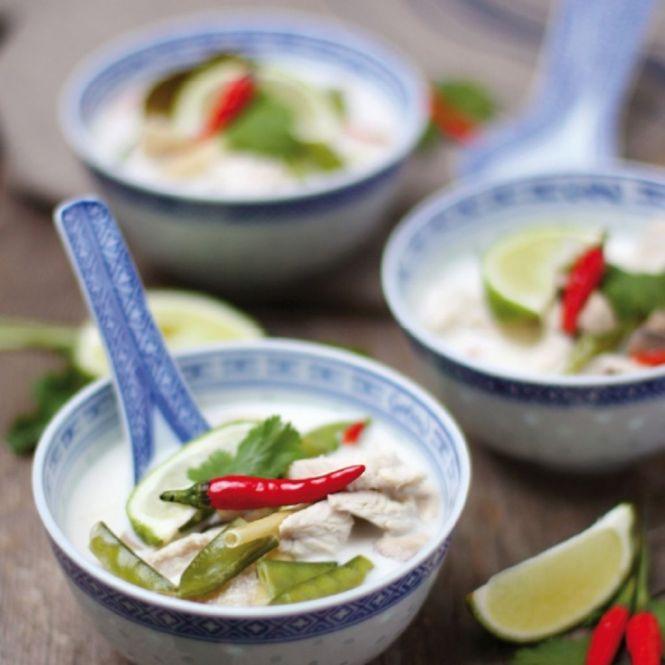 Thailändische Hühnersuppe dreierlei-liebelei