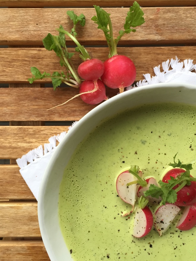 Radieschensuppe aus dem Grün