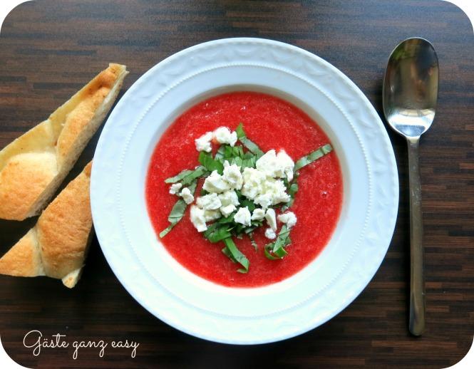 Melonen-Tomaten-Gazpacho