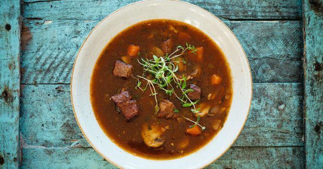 Suppe à la Boeuf Bourguignon
